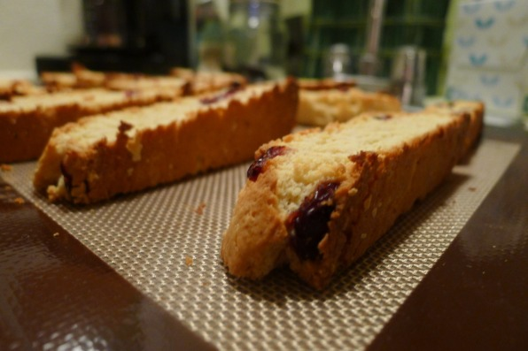 Slice, bake again and ta-da! Your biscotti is crunchy and dense, ready to be dipped in a number of beverages or melted chocolates