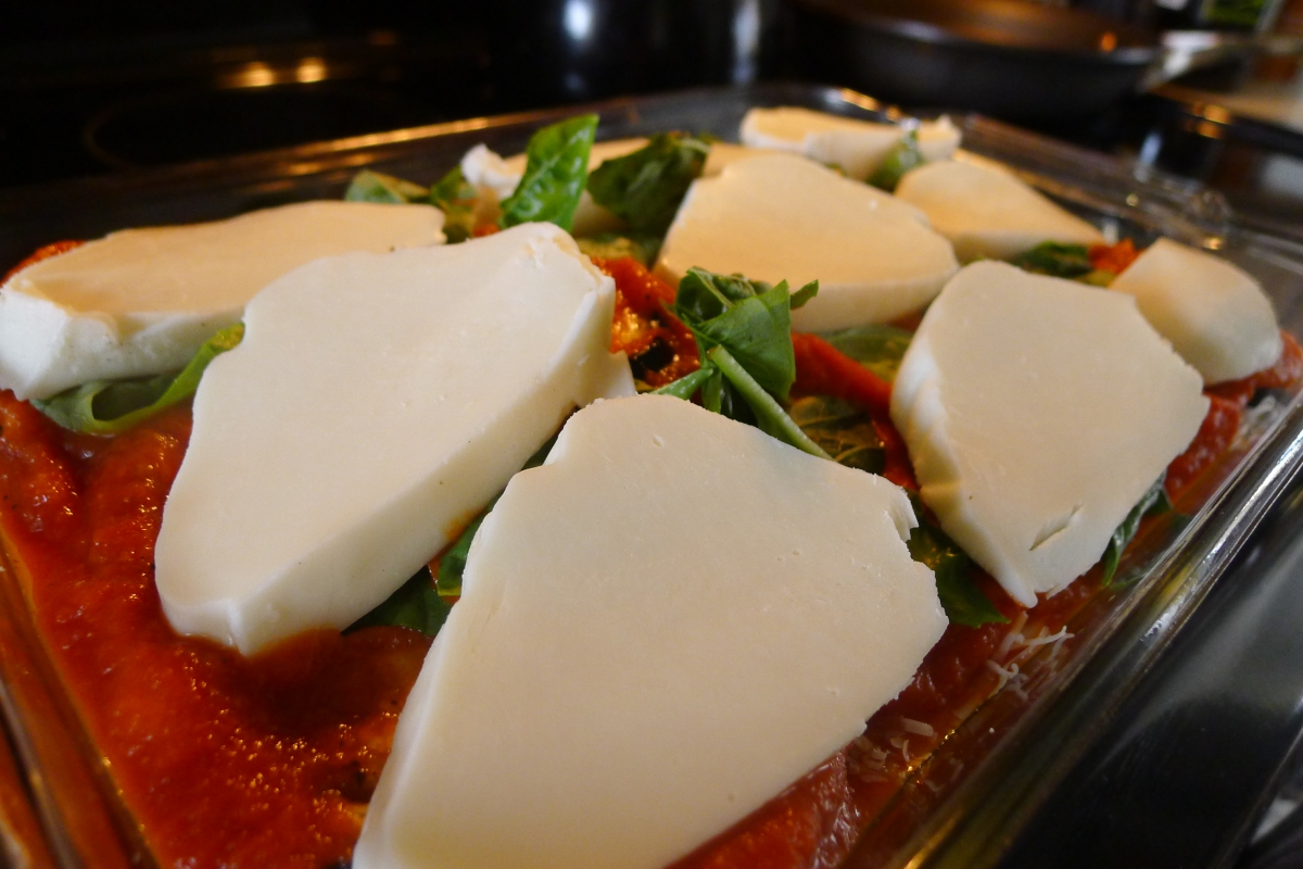 Use a combo of mozzarella and parmesan